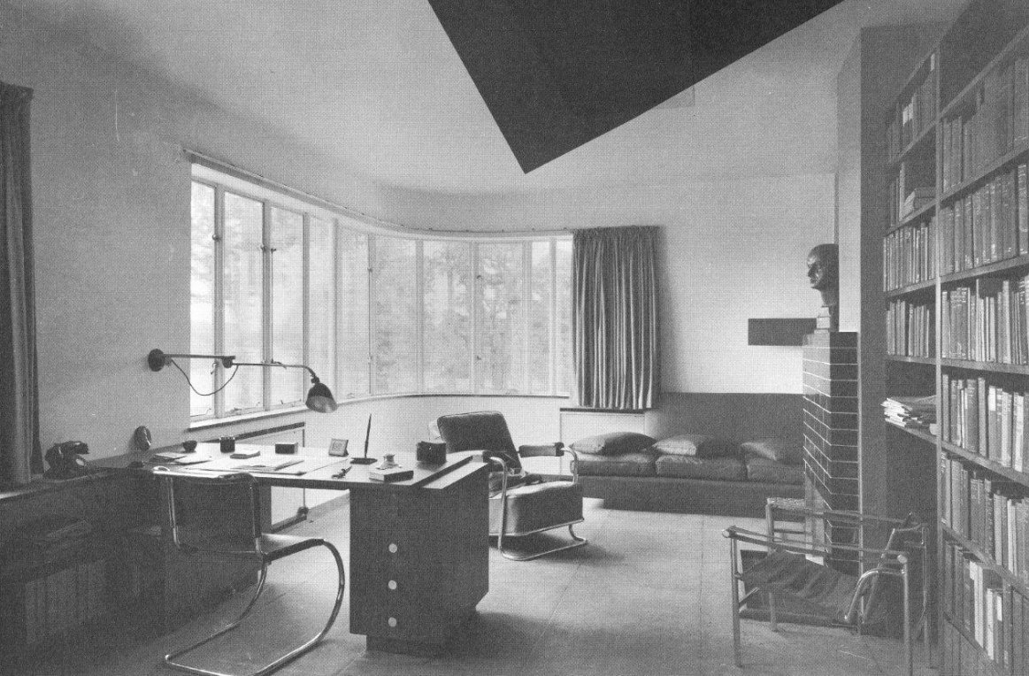 High Cross House: period photo of Headmaster Curry's Study