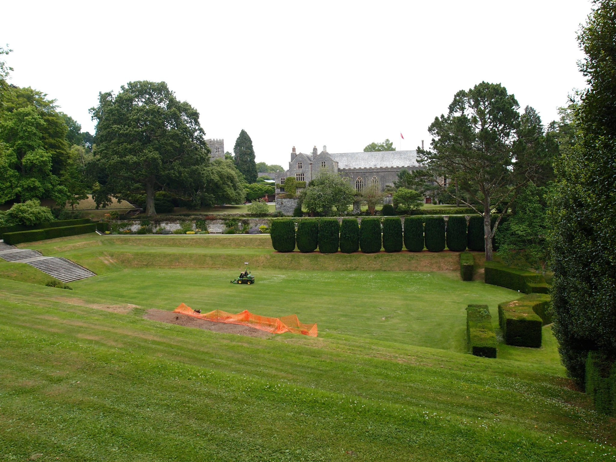 View from site of Moore sculpture, across the Tiltyard, toward the Twelve Apostles.