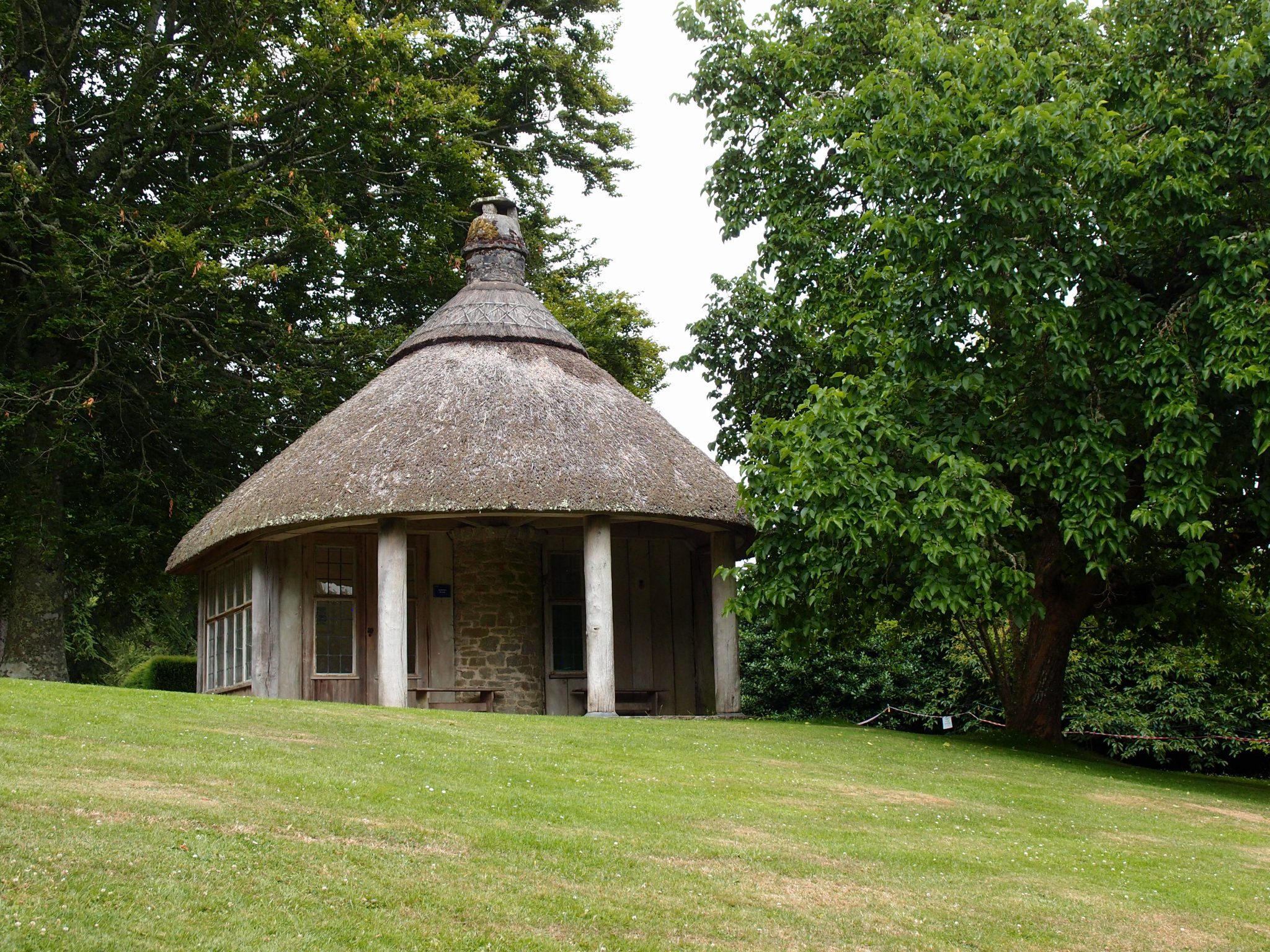 The Garden Summerhouse: designed in 1929, rebuilt after a fire in the 1980s.