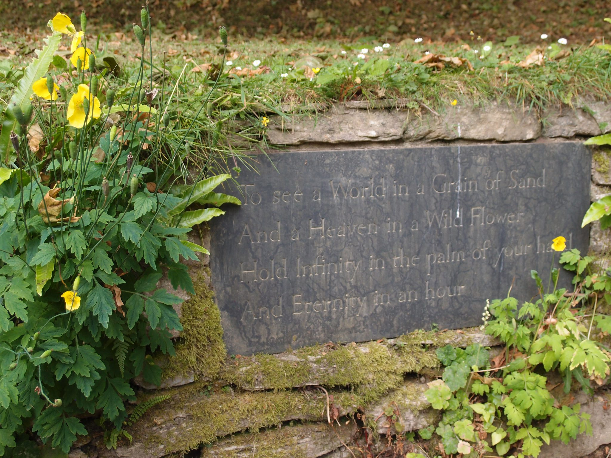 Garden Plaque. Words by William Blake (born 1757, died 1827)
