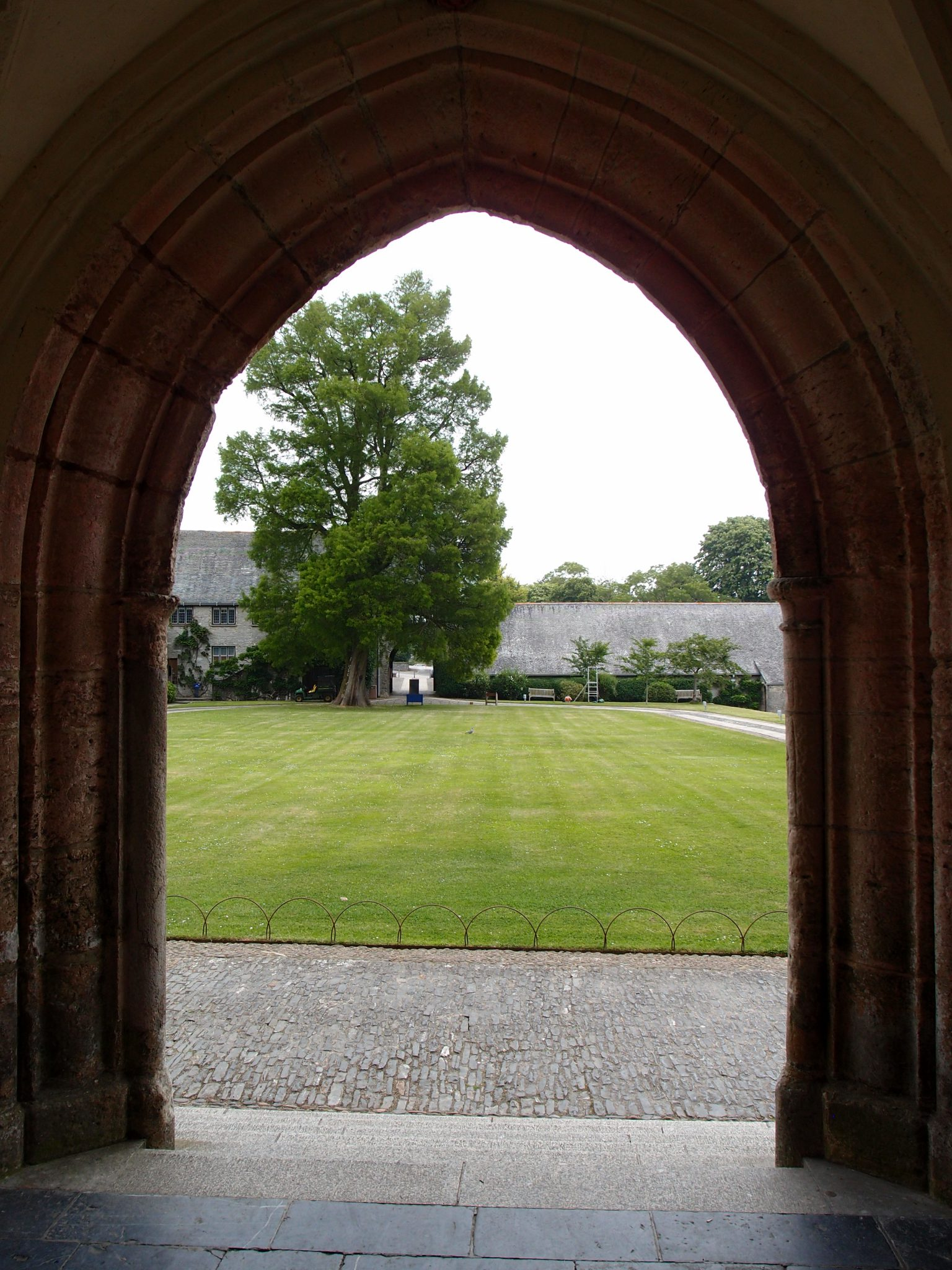 View of Courtyard, from entry to the Great Hall