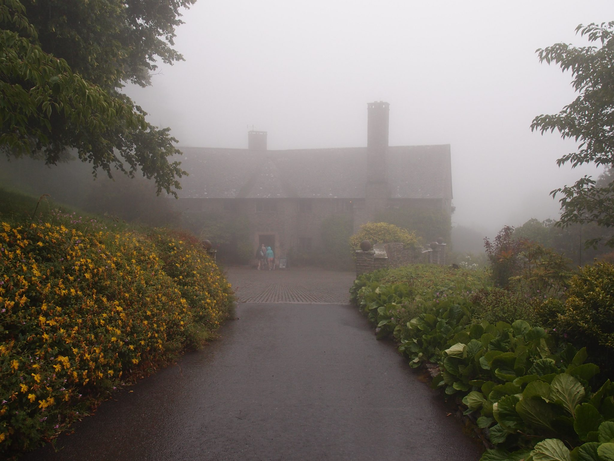 My first glimpse of the House at Coleton Fishacre.