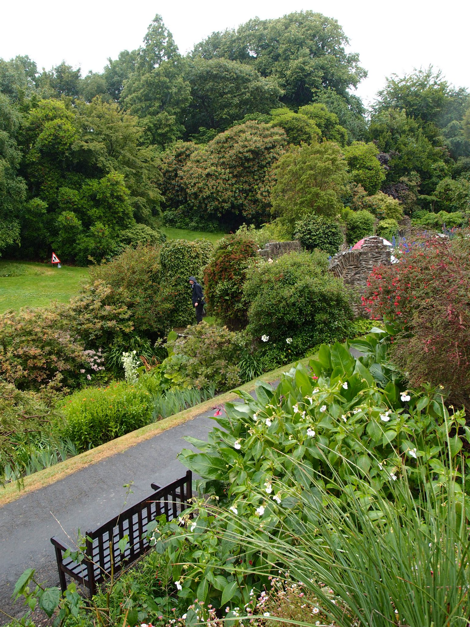 View from the Top Terrace toward the walls enclosing the Rill Garden.