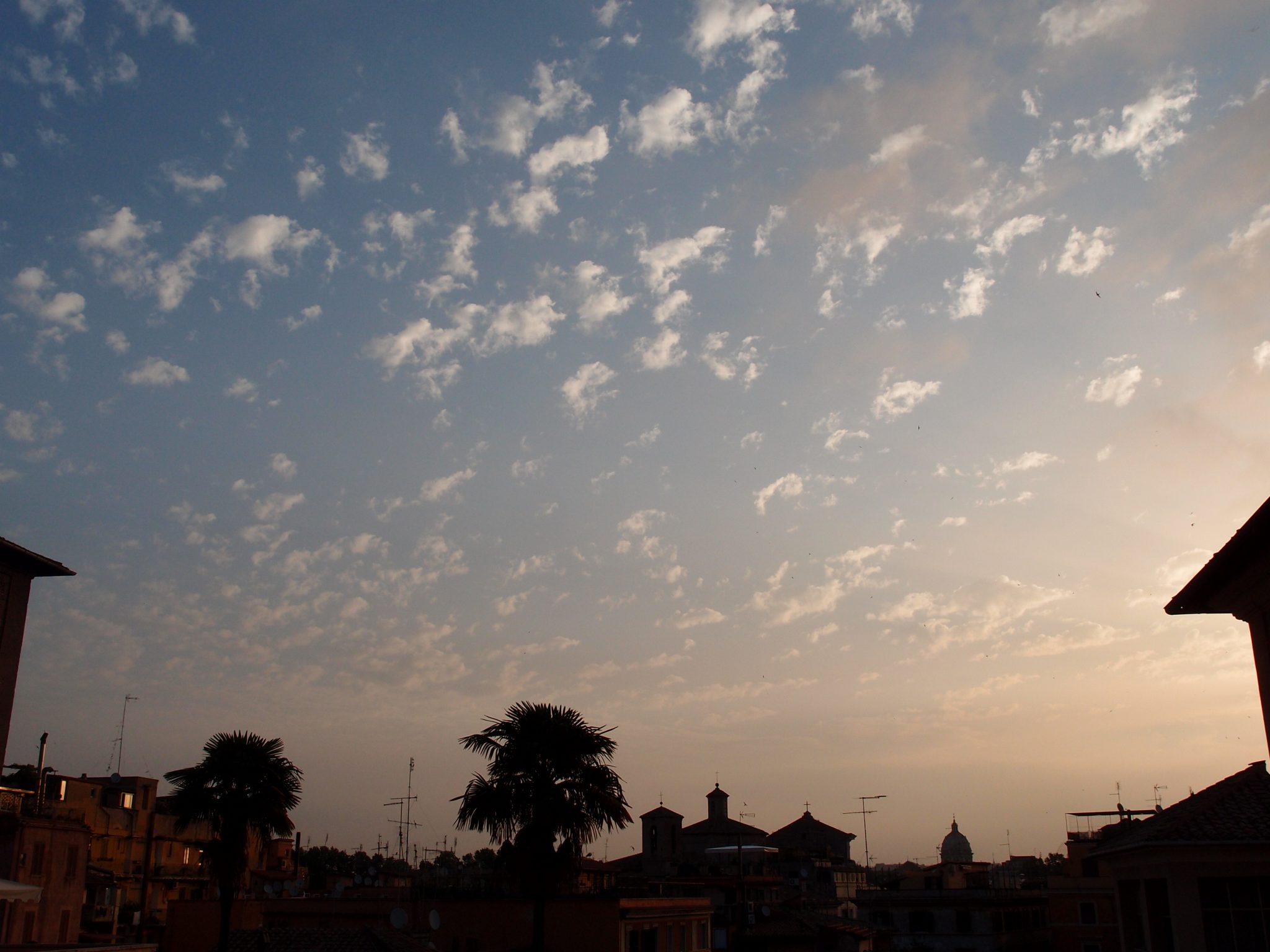 Roman Dawn, at 6:26AM on July 6, 2016, as I threw open the window shutters of my Hotel room.