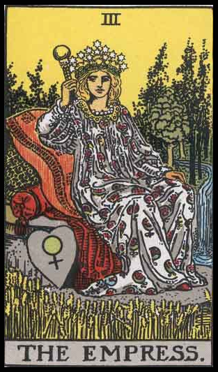 "The Empress, Card III of the Tarot. Per Niki: ""The Great Goddess. Queen of the Sky. Mother. Whore. Emotion. Sacred Magic & Civilization. In the form of a Sphinx. I lived for years inside this protective Mother. She also served for headquarters for my meetings with the crew. I was here we all had coffee breaks. On all she exerted a Fatal Attraction."""