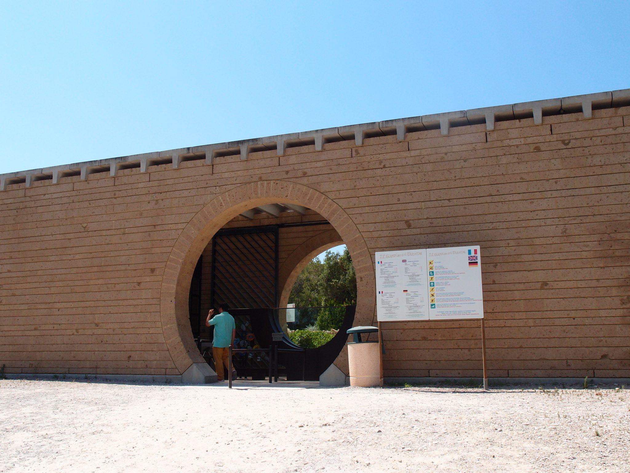 Entrance Gate, designed by Mario Botta.
