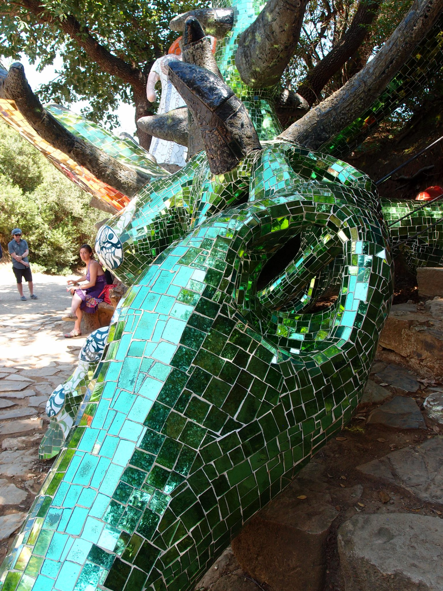 Strength -- detail of Dragon's Tail. See how perfectly the sculpture rests upon the natural rock of the site.