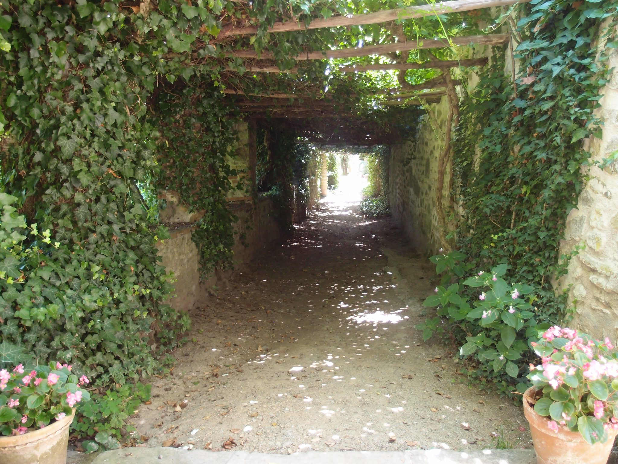 And this passage through yet another leafy tunnel makes us feel as if we've fallen down the Rabbit Hole, and into a Separate World.