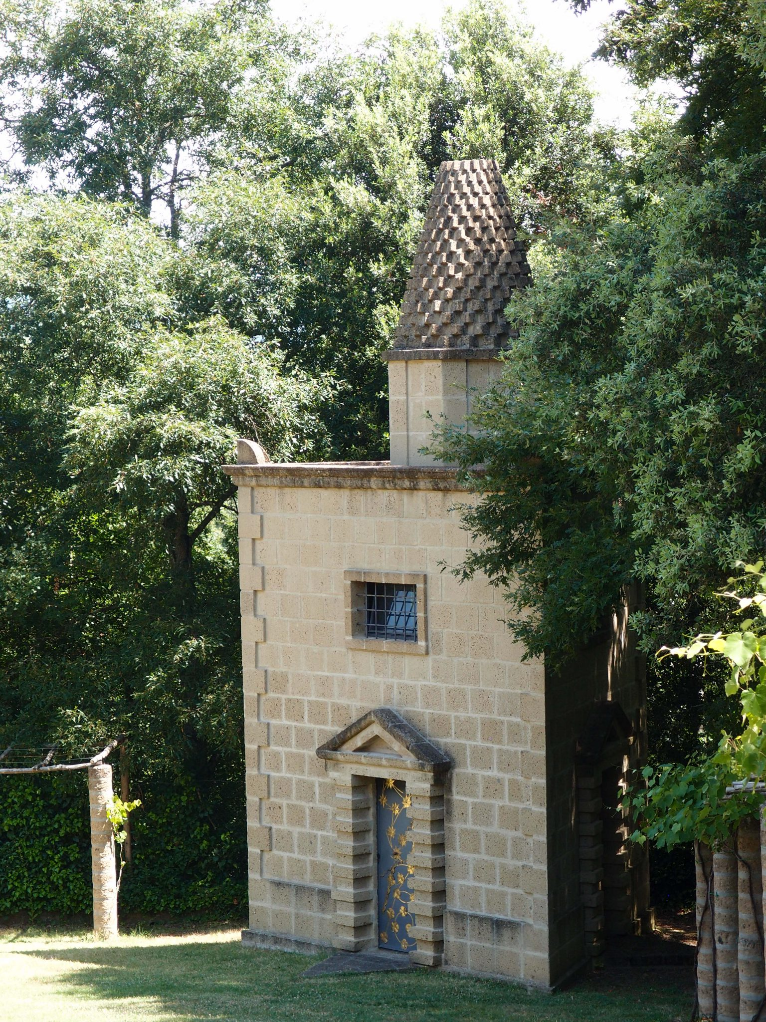 A free-standing Tower, downhill from the City Walls.