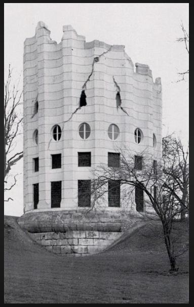 The Ruined Column at Desert de Retz was designed by visionary architect Francois Racine de Monville, and built in 1782.