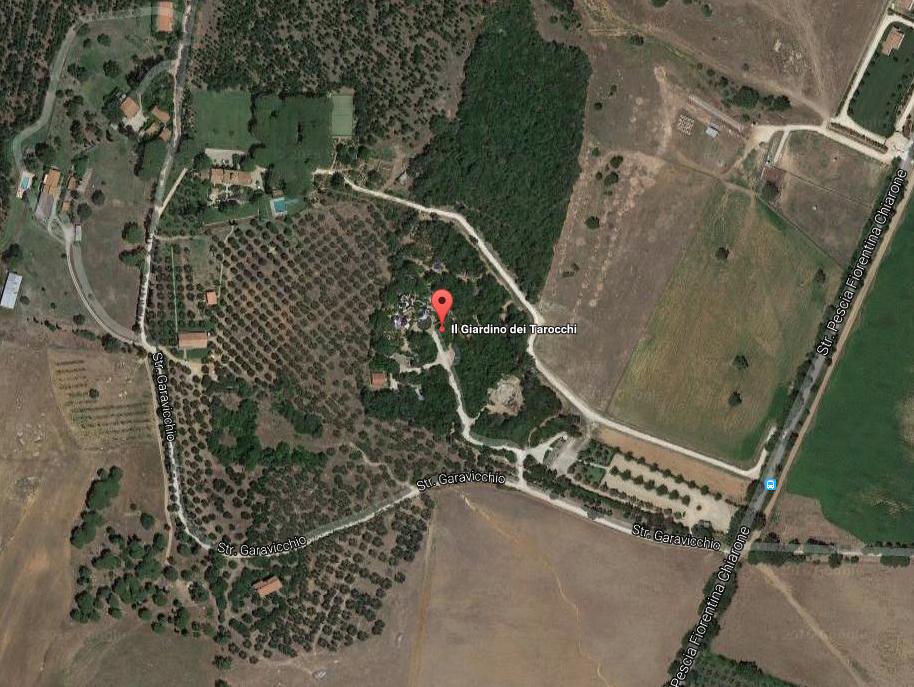 Aerial View of the Tarot Garden