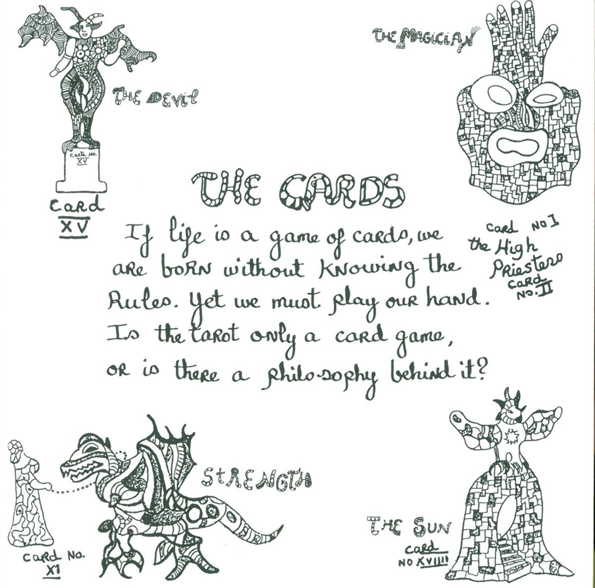 A page from Niki's guide to the Garden. Image courtesy of Il Fondazione Giardino Dei Tarocchi.