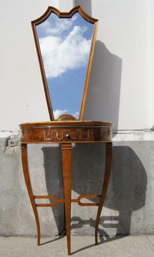 Tomaso Buzzi Table and Mirror
